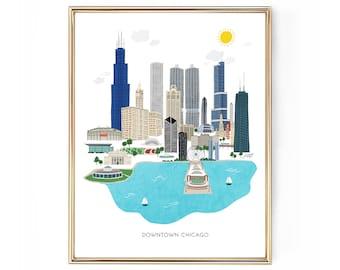 Chicago City Illustration - Art Print