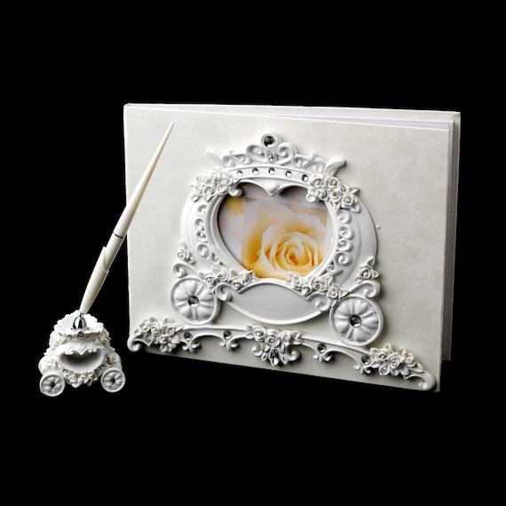Wonderful Cinderella Coach Carriage Reception/Guestbook Set