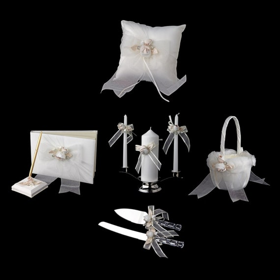 Beautiful Organza Bow and Rose Reception Set
