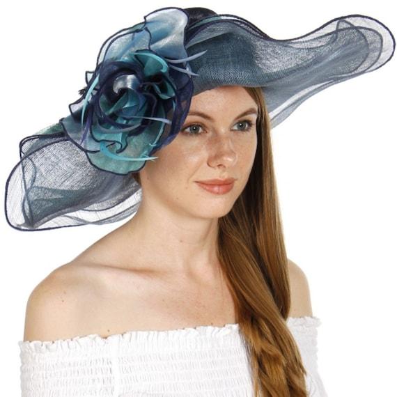Multicolored Flower Sinamay Dress Hat