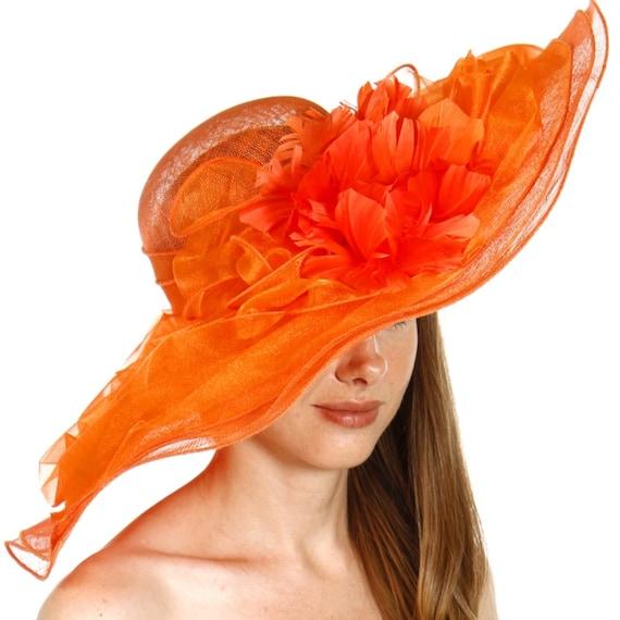 Organza Layer Soft Sinamay Dress Hat