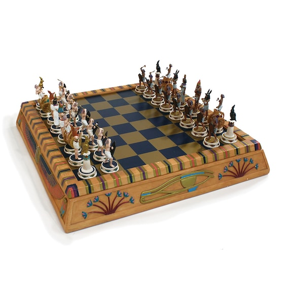 Deluxe One-of-a-kind Isis Chess Game Set