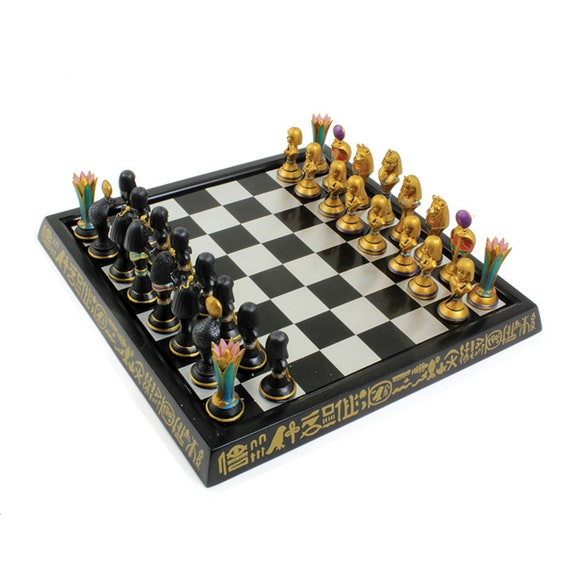 Exclusive One-of-a-kind Design: Egypt Chess Game Set