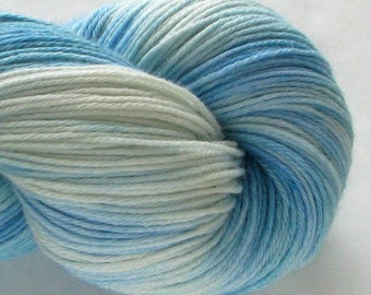 Hand-Dyed Fingering Yarn - Wollcott - Blue Blazes