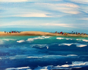 Painting In Acrylics A Day At The Beach