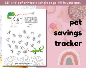 Pet Savings Tracker Printable PDF