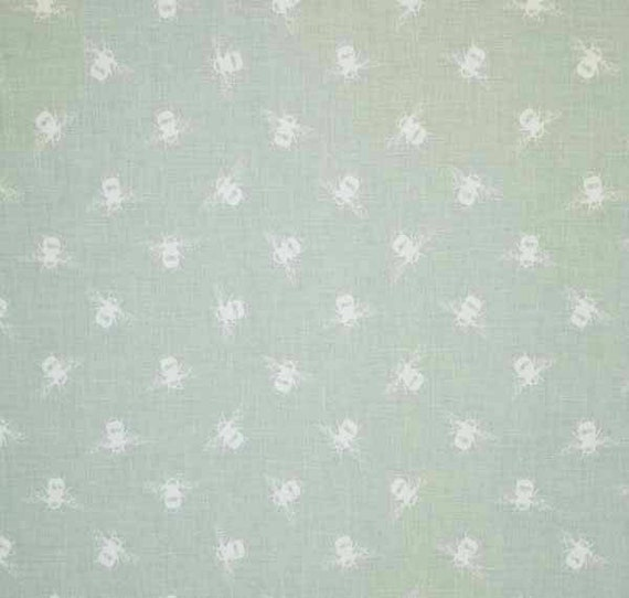 Fabric for Curtain//Upholstery,Crafts,Quilting. Duck egg FRYETT`S Cotton MAPS