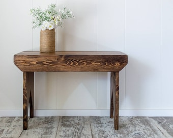 Awesome Entryway Stool Etsy Machost Co Dining Chair Design Ideas Machostcouk