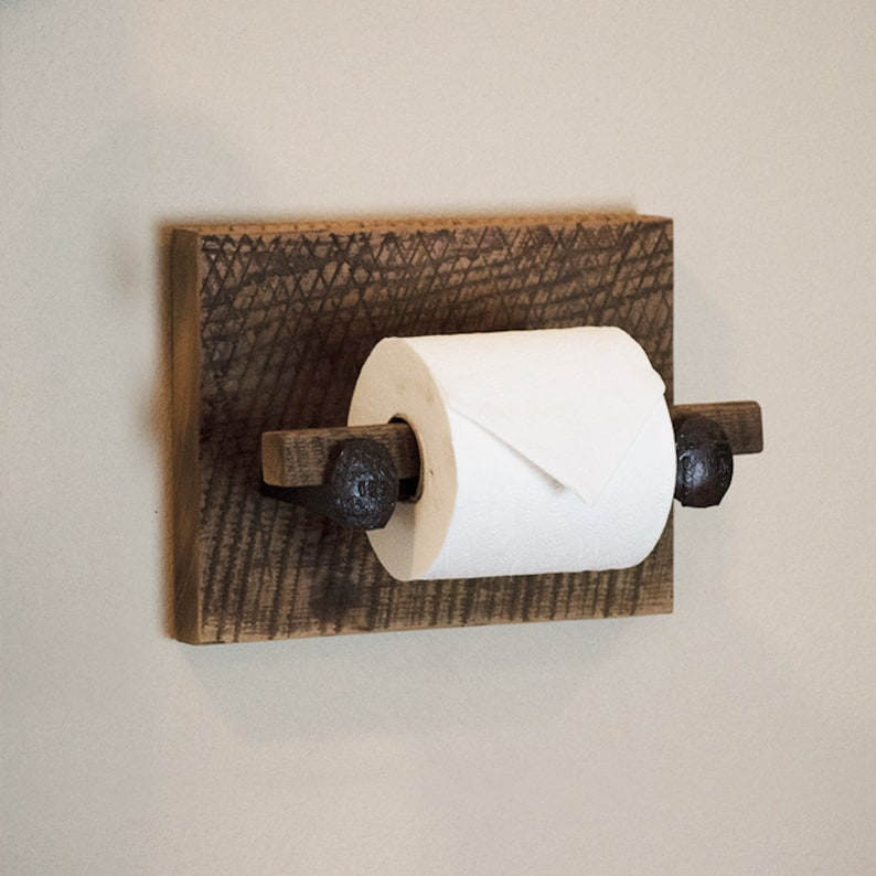 Barn Wood Toilet Paper Holder Rustic Toilet Paper Hanger With Etsy