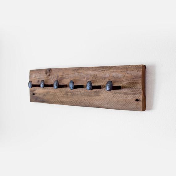 Rustic Railroad Spike Coat Hook Rack /& Shelf
