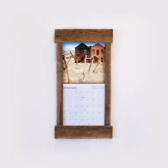 Rustic Barn Wood Calendar Frame Calendar Holder Reclaimed Calendar