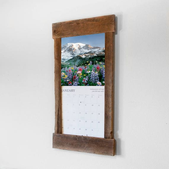 Rustic barn wood calendar frame. Calendar holder. Reclaimed | Etsy