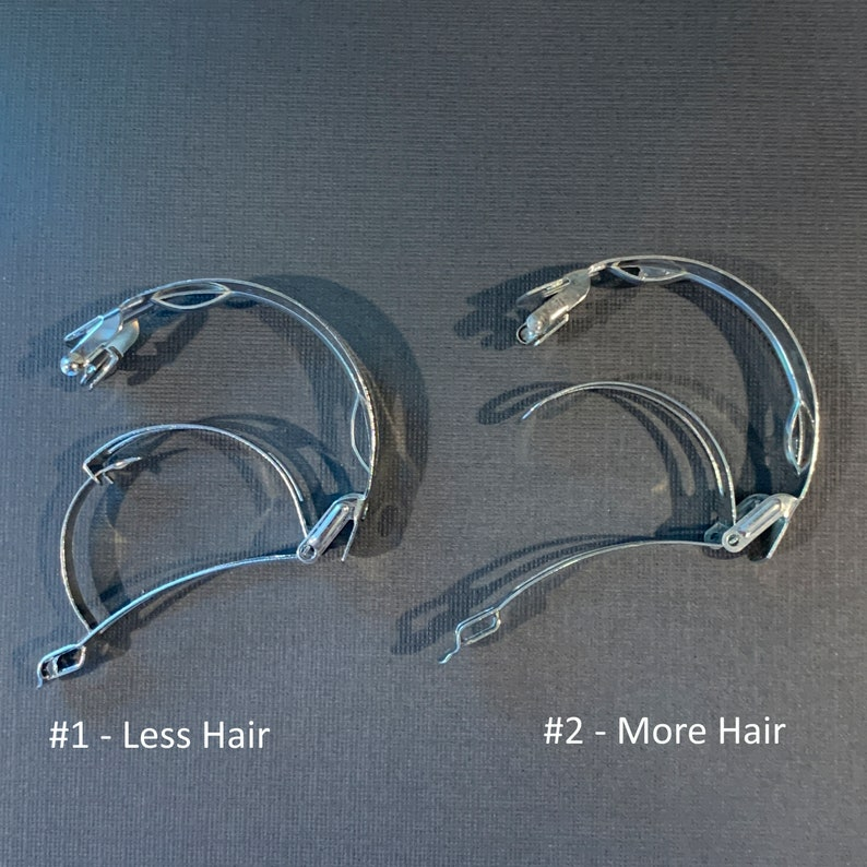 Custom Black Fused Glass Barrette CFRIBPT Black Iridescent Ponytail Barrette Black Metallic Hair Clip Iridized Pony Tail Barrette
