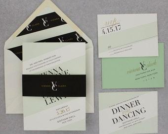 Wedding Invitations, Modern Wedding Invitations, Urban Chic, Bold, Geometric - Vienna Wedding Invitation Deposit