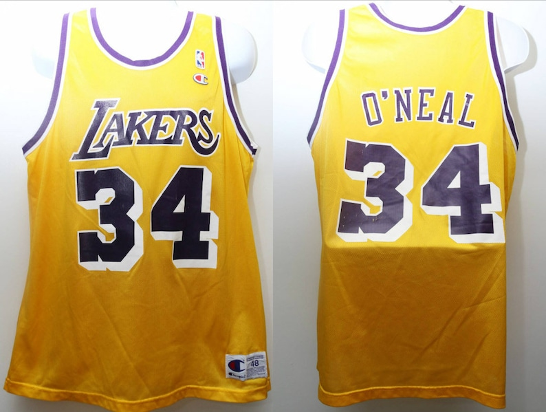 8ee9aab7746 Rare 90 s Vintage Champion SHAQUILLE O NEAL 34
