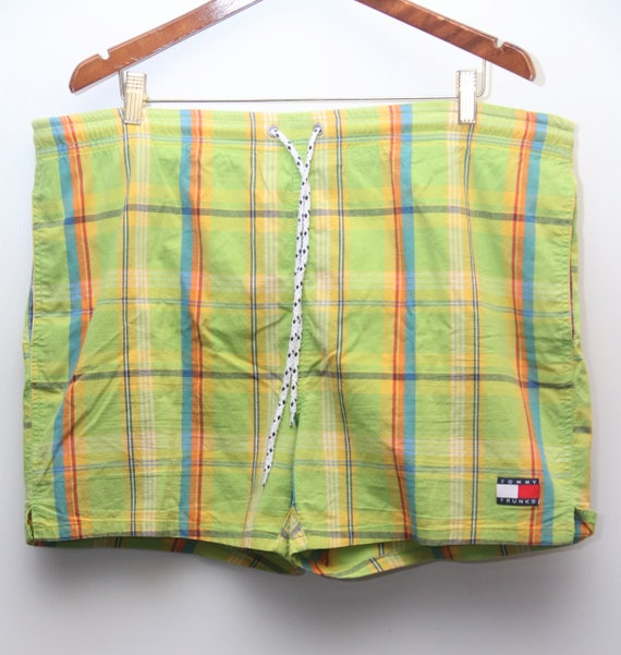 "90's Vintage Tommy Hilfiger ""TOMMY TRUNKS"" Plaid P"
