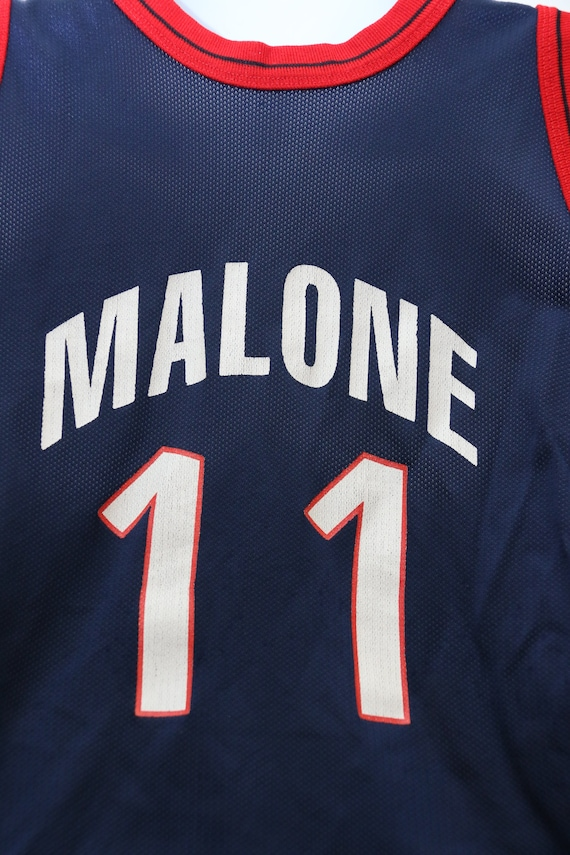 Small Vintage Jersey 90's Rare USA Champion Basketball MALONE
