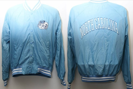 Carolina Medium Men's Bomber Sz Rare Windbreaker UNC Line Vintage