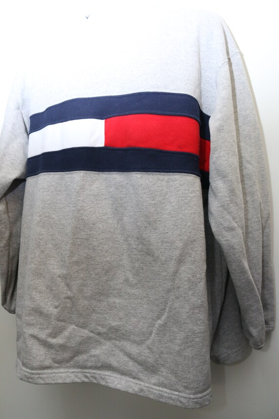 90 ' s rare Vintage Tommy Jeans «TOMMY hommes) HILFIGER» Sweat Sz: X-LARGE (exclusif pour hommes) «TOMMY 7ccdd0