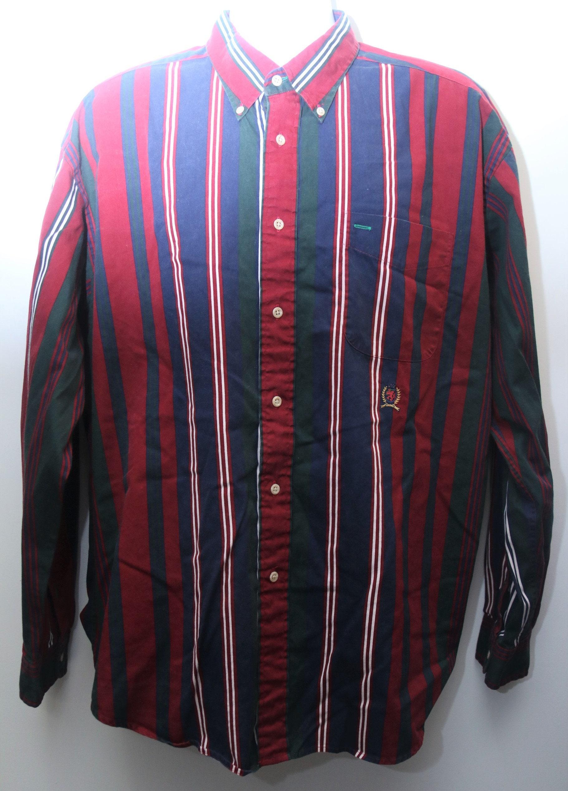 51d45d46ead230 Rare 90 s Vintage TOMMY HILFIGER Long-Sleeve