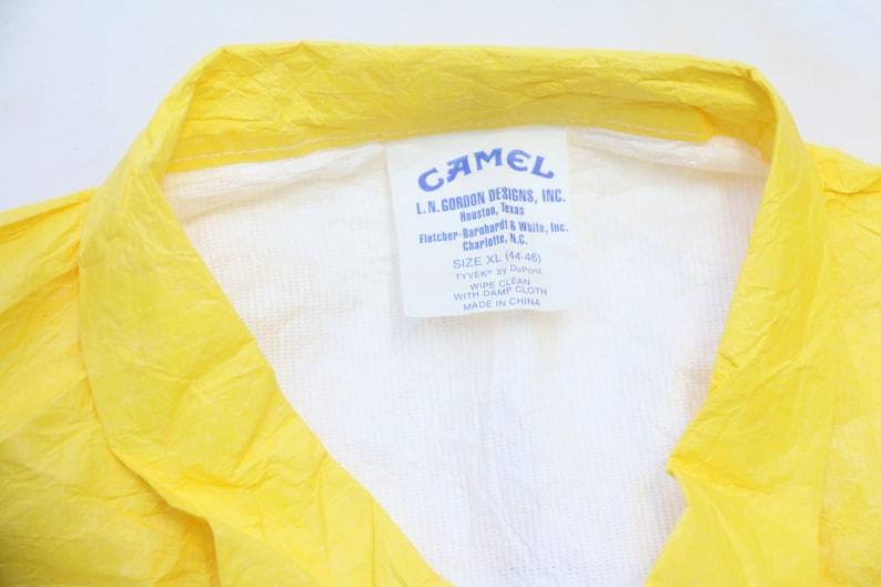 LARGE Men/'s Exclusive Very Rare 1992 Vintage TYVEK CAMEL Paper Bomber Jacket Sz