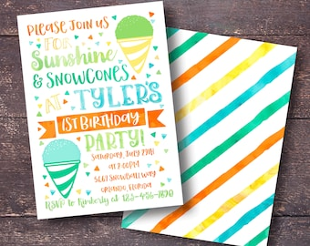 Snow Cone Invite Etsy