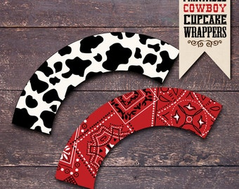 Horse Party Cupcake Wrappers, Cowboy Cupcake Wrappers, Western Party Cupcake Wrappers, Cowboy Birthday Party, Horse Birthday Party