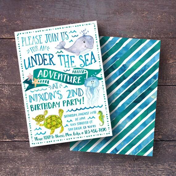 Under The Sea Invitation Birthday Boys