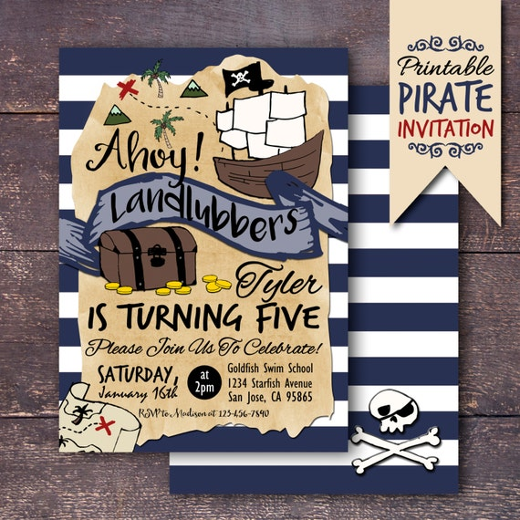 Pirate party invitation pirate birthday invitation pirate etsy image 0 filmwisefo