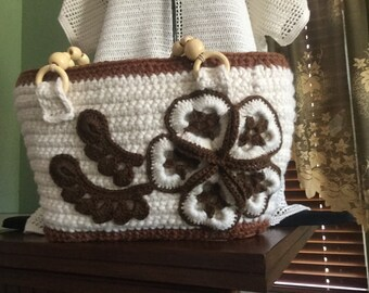 SALE Crocheted handbag.