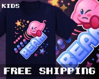 Kirby Beam Kids T-Shirt , Toddler, Baby * Free Shipping * Great Gamer Gift