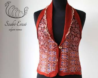 Gold nuno felted vest