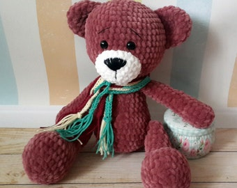 Crochet toy Teddy bear toy Crochet bear Handmade toy Amigurumi toy Plush bear Gift for girl Gift for boy Stuffed animal Birthday gift