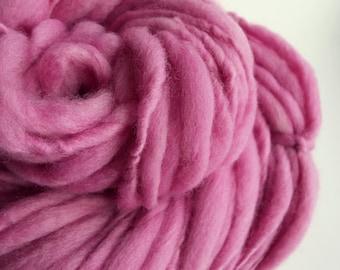 Pink yarn, Thick and thin yarn, chunky knitting wool, pink big knitting wool