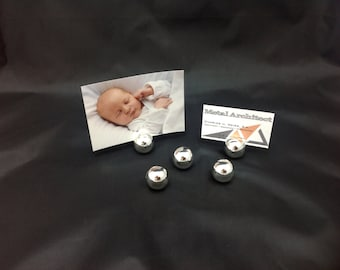 Seating / table card or photo holder silver ball