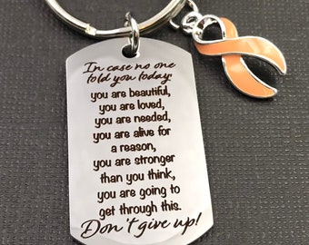Pick Your Ribbon - Will get Through This, Don't Give Up Encouragement Keychain - Cancer / Chronic Invisible Illness Survivor Awareness Gift