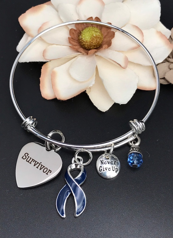 Colon Cancer Survivor Bracelet Colorectal Cancer Etsy