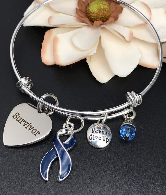 Colon Cancer Survivor Bracelet Colorectal Cancer Etsy