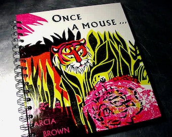 INDIA ONCE a MOUSE Journal Altered Book Notebook recycled Vintage book