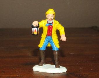 Night Watchman with Lantern Lemax Christmas Snow Village Dollhouse Miniature Figurine