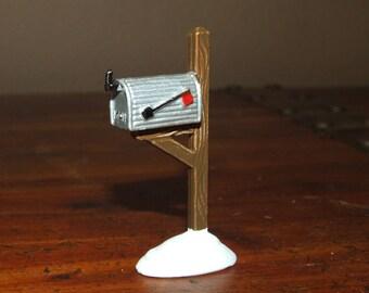 Village Mailbox Dept 56 Christmas Snow Village Dollhouse Miniature Figurine