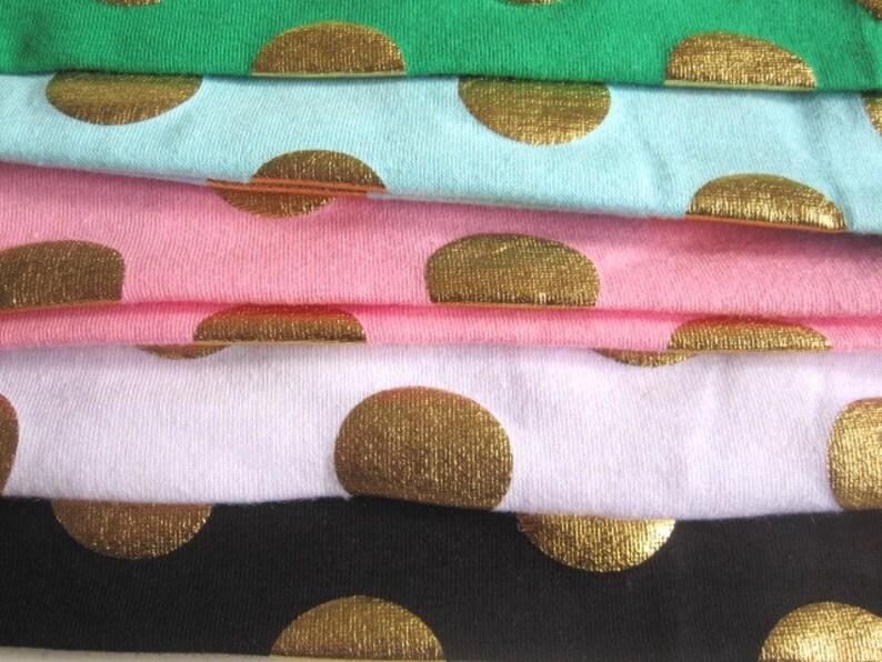 gold polka dot hair turban elasticated jersey Baby spotty head band toddler girl hair accessories girls bow bunny ears headband