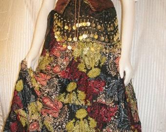 Custom Listing 3 Piece Gypsy Costume With 3 Row Coin Sash in Black & Gypsy costume | Etsy