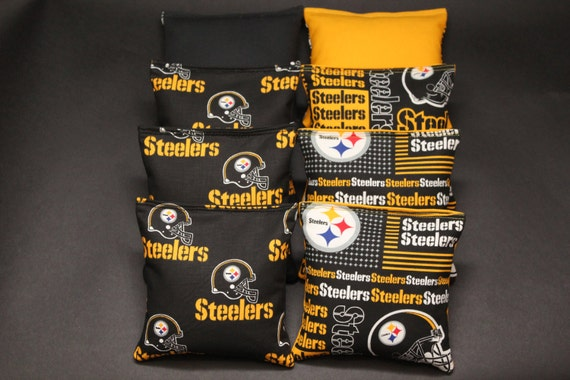 Pittsburgh Steelers Set of 8 Cornhole Bags FREE SHIPPING