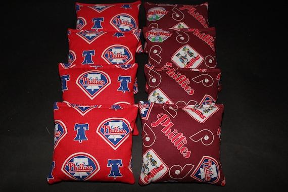 Philadelphia Phillies Set of 8 Cornhole Bean Bags FREE SHIPPING