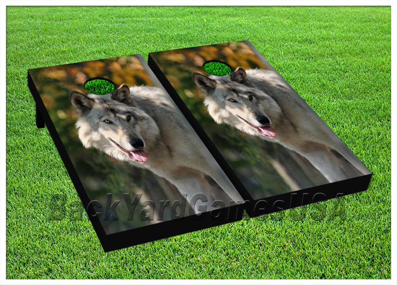 Astonishing Custom Cornhole Boards With Bags Wild Lone Wolf Cornhole Boards Game Set 765 Dailytribune Chair Design For Home Dailytribuneorg