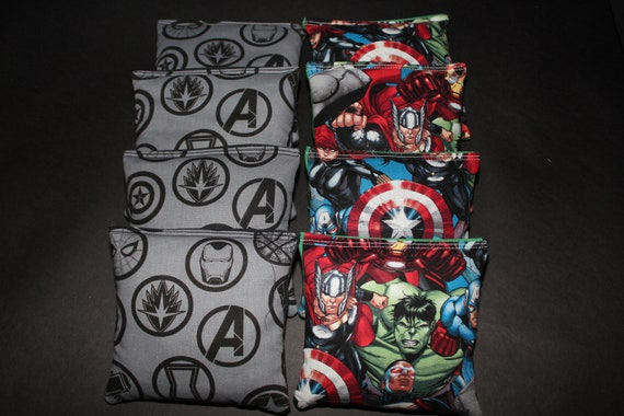Fabulous Avengers Super Hero Marvel Comics Cornhole Bags 8 Top Quality Custom Handmade Aca Regulation Bean Bags Gmtry Best Dining Table And Chair Ideas Images Gmtryco
