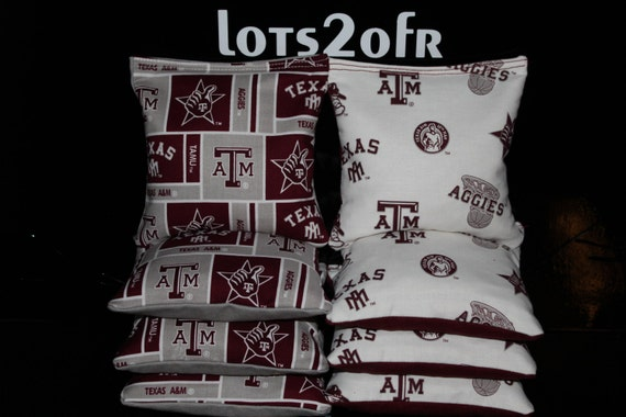 Astounding Texas Am University Aggies Cornhole Bean Bags Aca Regulation Corn Hole Bags Tailgate Corn Toss Game Ibusinesslaw Wood Chair Design Ideas Ibusinesslaworg