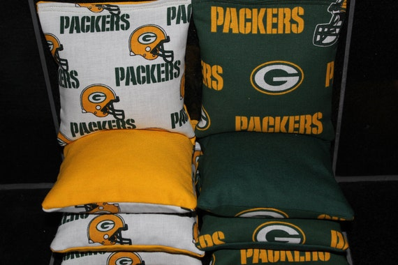 Astounding Green Bay Packers Cornhole Bean Bags Aca Regulation Tournament Corn Hole Bags Evergreenethics Interior Chair Design Evergreenethicsorg