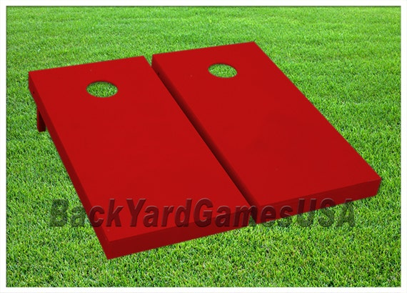 Astounding Red Cornhole Boards Bags Bean Bag Toss Game Set With Pick Your Colors Bags Regualtion 24X48 Quality Custom Painted Handmade Uwap Interior Chair Design Uwaporg
